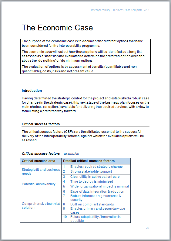 Interoperability business case template interopen the interoperability business case template is available in microsoft word cx format fbccfo Gallery